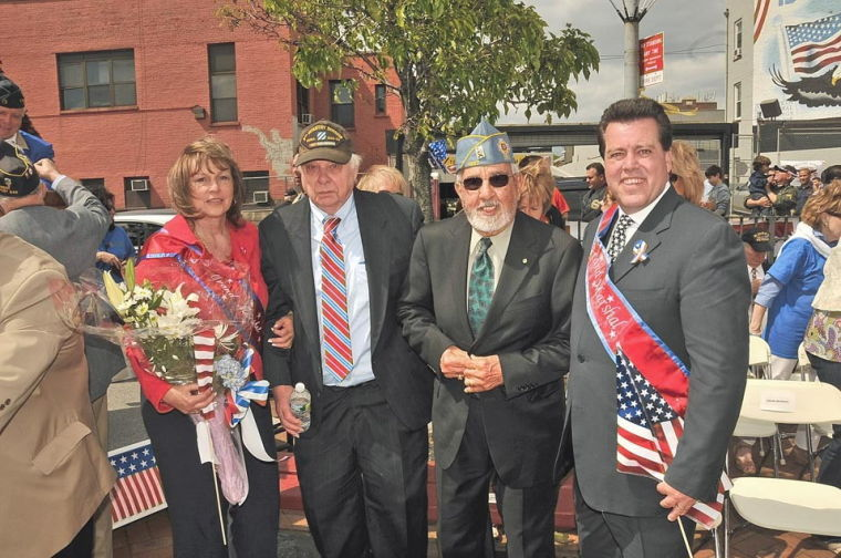 MaryAnna being honored as one of the Grand Marshals for the Maspeth Memorial Day Parade in 2013
